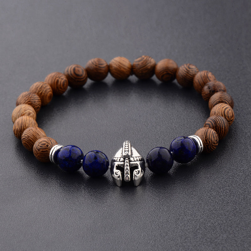 Spartan Warrior Wood Bracelet