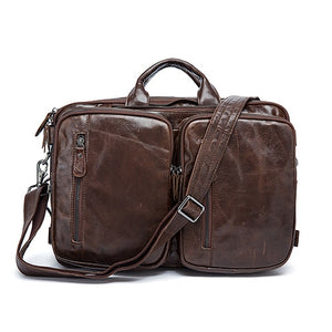 Urban Leather Messenger Bag.