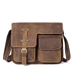 Commuter Leather Messenger Bag.