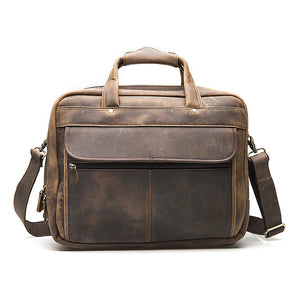 Explorer Leather Messenger Bag.