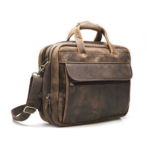 Explorer Leather Messenger Bag