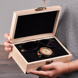 Mens Wood Watch & Sunglasses Gift Set (Personalised Box).