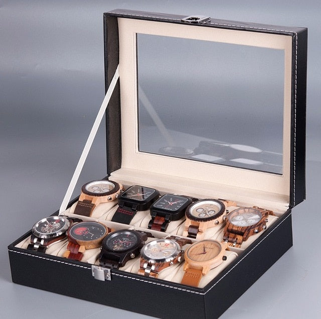 PU Leather Watch Display Box