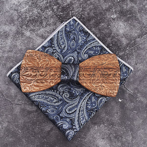 Adam Wooden Bow Tie Set