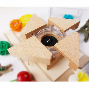 Mechanical Wooden Ring Box