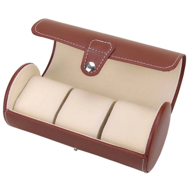 Leather watch travel case (3 watch capacity)