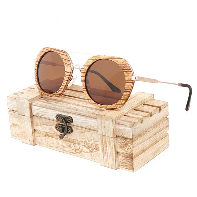 Evie Wooden Sunglasses