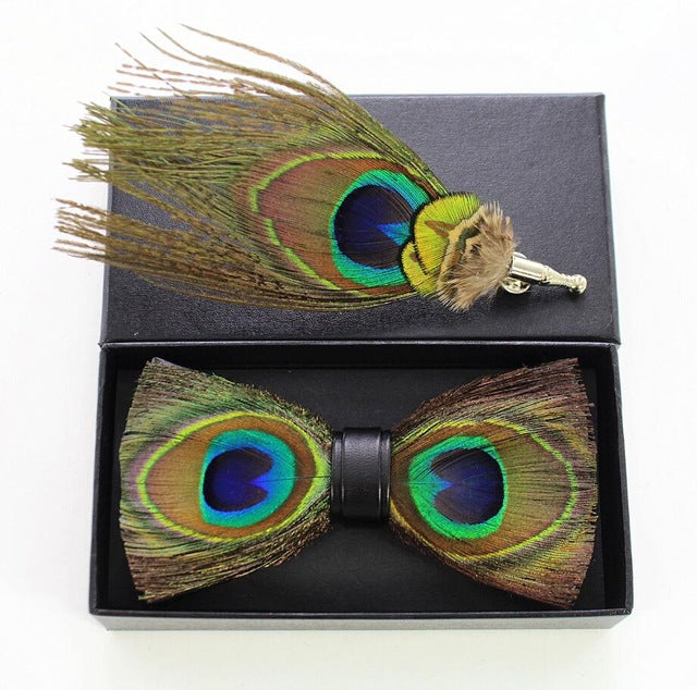 Spalding Feather Bow Tie Set.