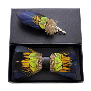 Costa Rica Feather Bow Tie Set.