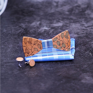 Darwin Wooden Bow Tie Set.