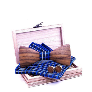 Theodore Wooden Bow Tie Set.