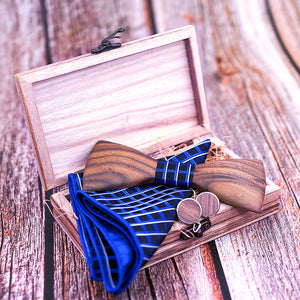 Theodore Wooden Bow Tie Set