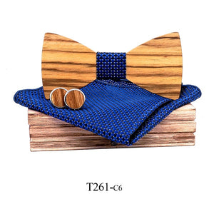 Hector Wooden Bow Tie Set