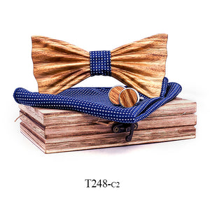 Byron Wooden Bow Tie Set