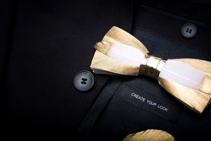 Ophir Feather Bow Tie Set.