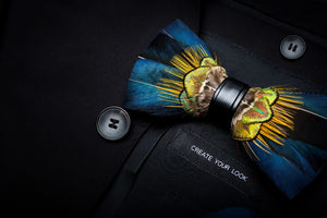 Costa Rica Feather Bow Tie Set