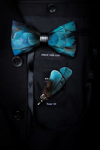 Dominica Feather Bow Tie Set.