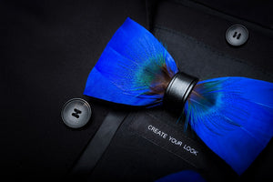 Arctic Feather Bow Tie Set