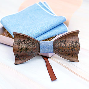 Curtis Wooden Bow Tie Set.