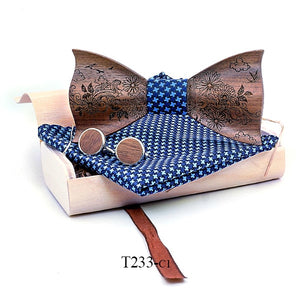 Curtis Wooden Bow Tie Set