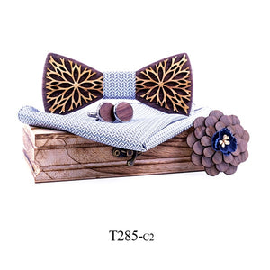 Nova Wooden Bow Tie Set