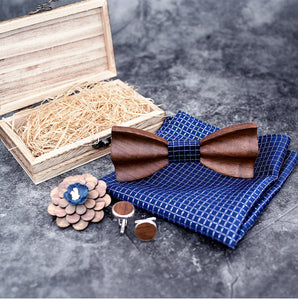 Bowen Wooden Bow Tie Set.