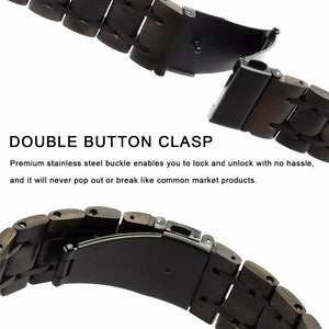 Ebony Wood & Black Steel Samsung Galaxy Replacement Band