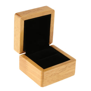 Luxury Natural Wood Ring Box