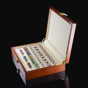 Luxurious Wooden Ring & Cufflink Organiser