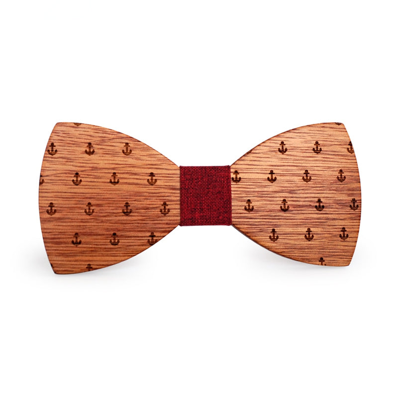 Sparrow Wooden Bow Tie