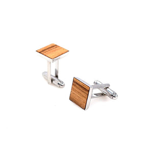 Zebra Wood Cufflinks