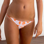 Cheeky Bikini Bottoms - Orange Ikat