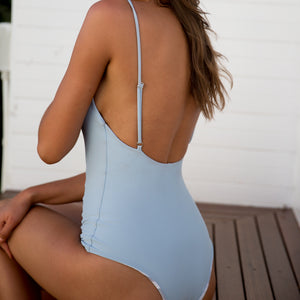 Frankie One Piece - Ash/Grey Ikat