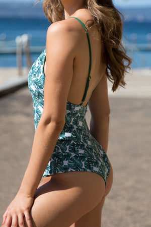 Frankie One Piece - Clover/Philo Print