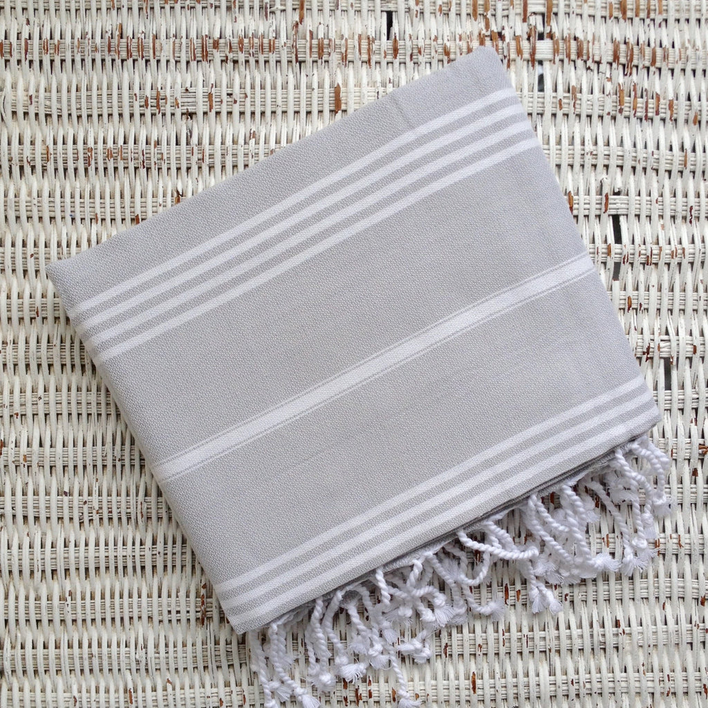 Turkish Towel- LIGHT GREY