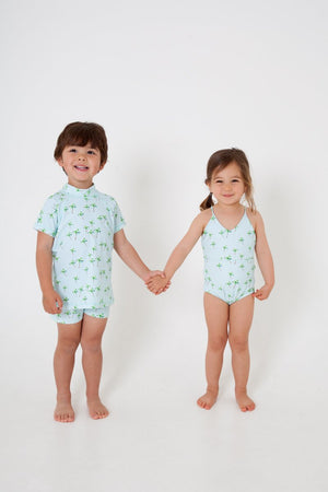 SWIM shirt- PALM PRINT