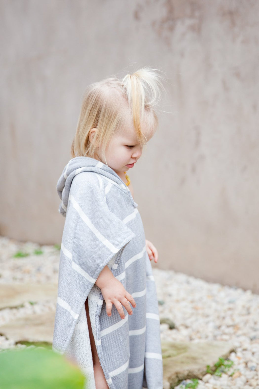 Kids PONCHO towel- GREY
