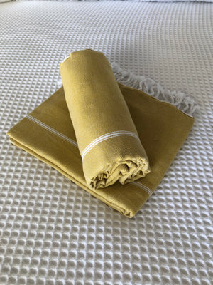 Turkish Towel - Mustard