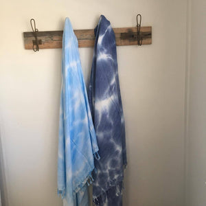 TIE DYE cotton towel-2 colour ways