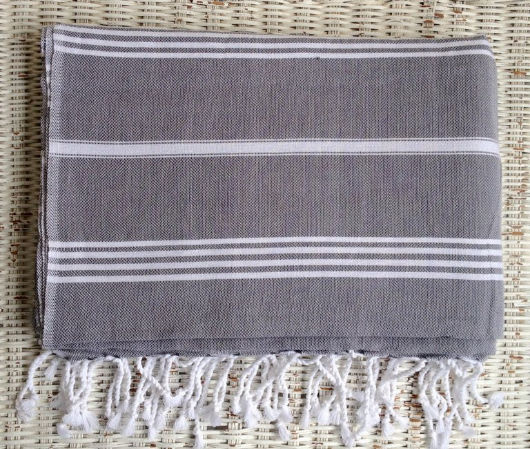 Large Turkish towel - Charcoal