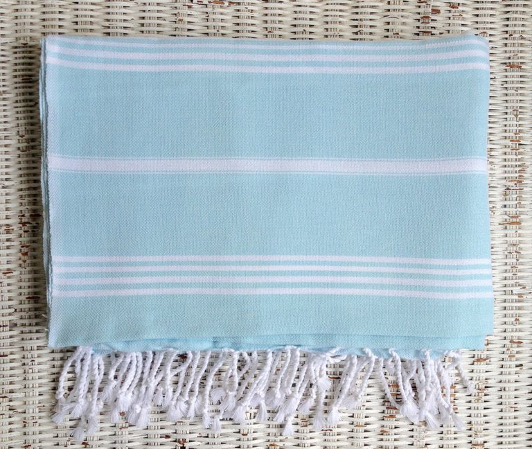 Large Turkish Towel - Light Aqua