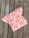 Girls Swim Shirt  - Orange Ikat
