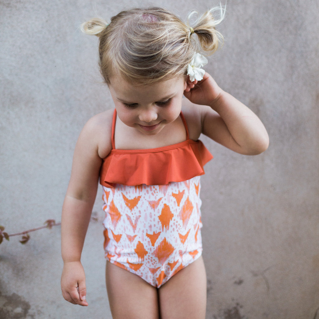 Sweetie One Piece - Orange Ikat