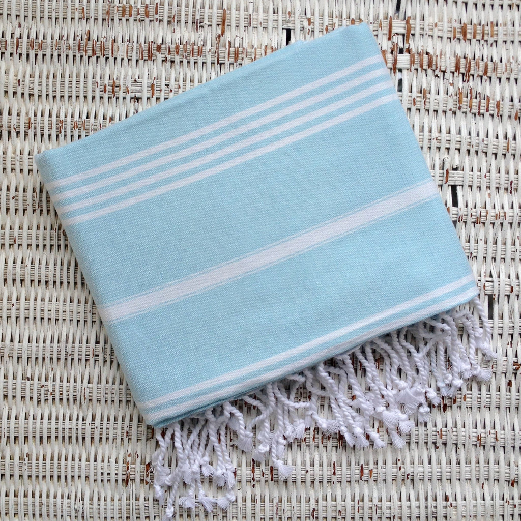 Turkish Towel- LIGHT AQUA