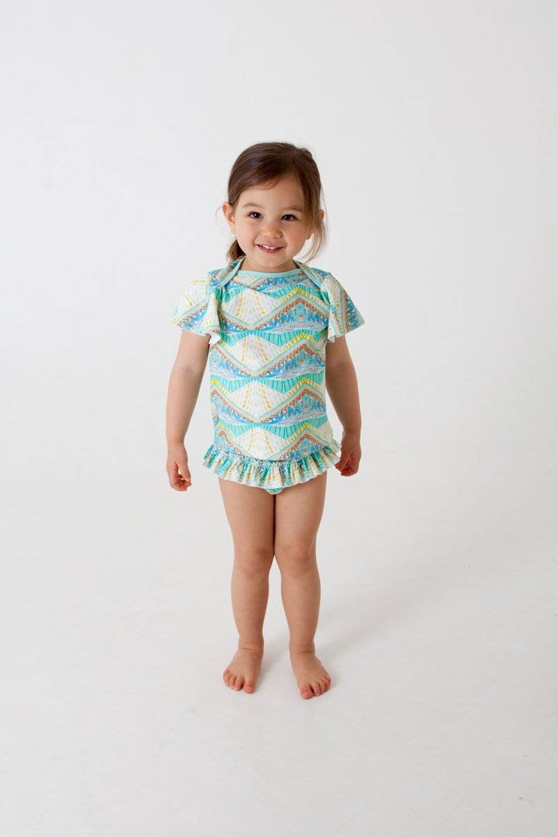 Girls swim shirt- TRIBAL