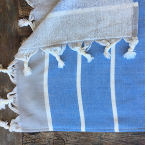 Kids PONCHO towel- CORNFLOWER BLUE