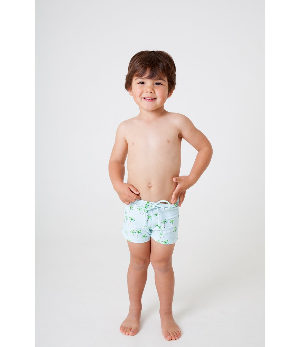 BOYS swim trunk- PALM print
