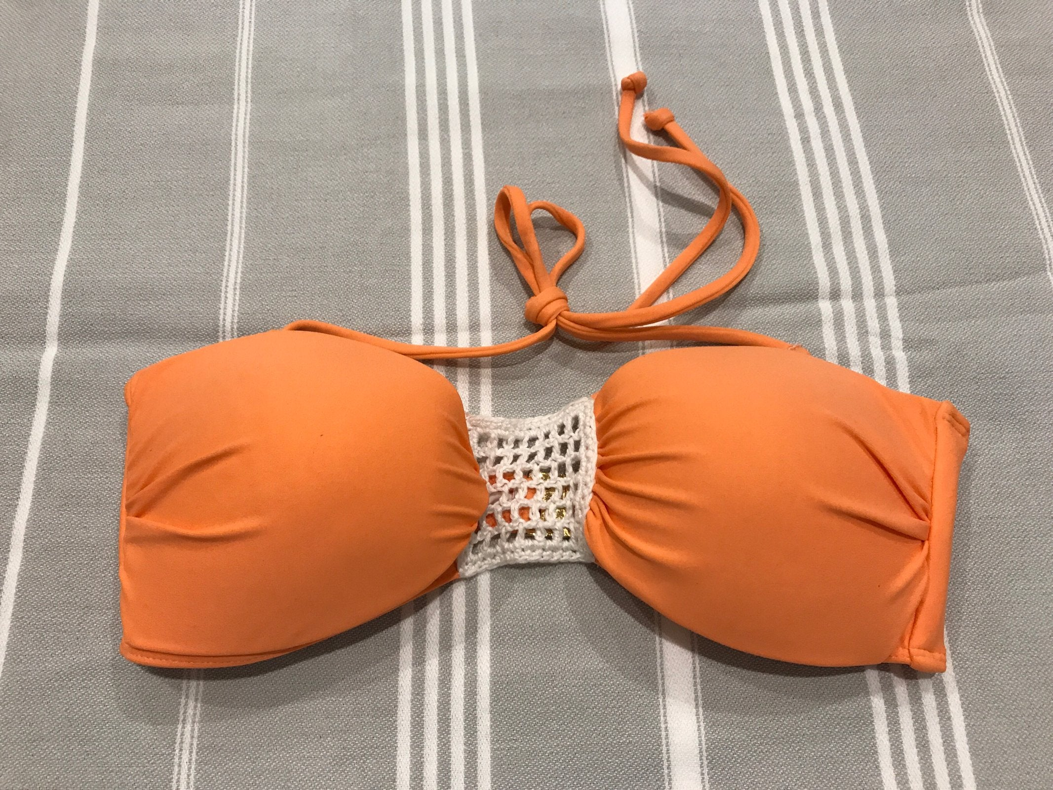 Balconette Bikini Top - Peach Sweetpea