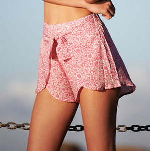 WRAP SHORTS - Pink Floral