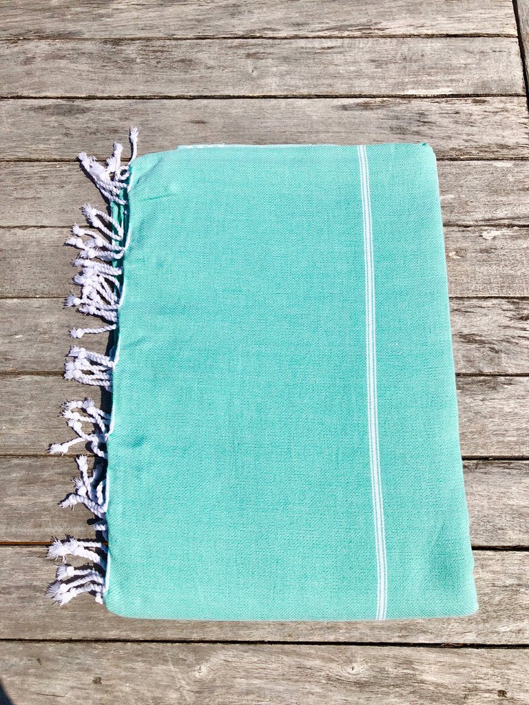 Large Turkish Towel - Turquoise